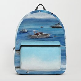 Boats Bobbing on Belfast Bay Backpack