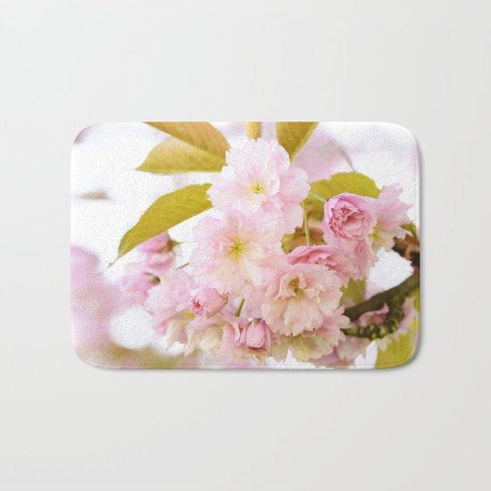 Sakura - Cherryblossom - Cherry blossom - Pink flowers on #Society6 Bath Mat