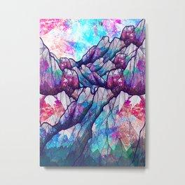 Colour tone peaks Metal Print