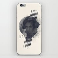beethoven iPhone & iPod Skins featuring Beethoven by Josh Slee Design
