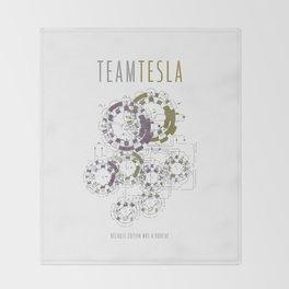 Team Tesla Throw Blanket