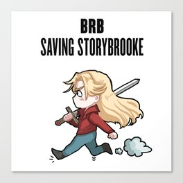 BRB -- Saving Storybrooke Canvas Print