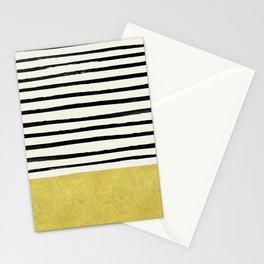 Gold x Stripes Stationery Cards