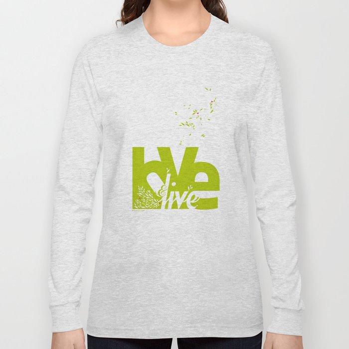 Love & Live (leaves 2) Long Sleeve T-shirt