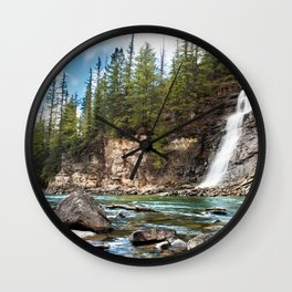 Bear Creek Falls Wall Clock