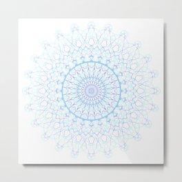 Snowflake #003 transparent Metal Print