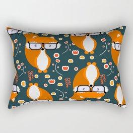 Hipster foxes Rectangular Pillow