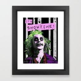 "BEETLE JUICE ""It's Showtime! Framed Art Print"