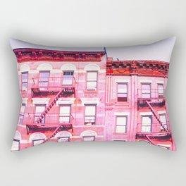 New York City Pink Buildings Rectangular Pillow