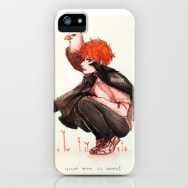 hinata, but with birbs iPhone Case
