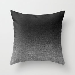 Silver & Black Glitter Gradient Throw Pillow