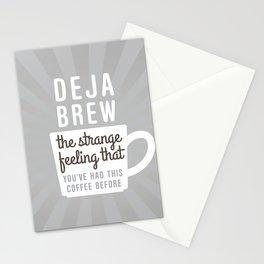 Coffee Deja Brew Stationery Cards