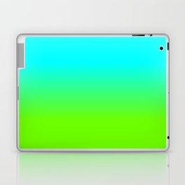neon green, neon orange, ombre shade, color fade, neon, green, yellow, orange, ombre, shade, color, Laptop & iPad Skin