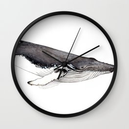 Humpback whale for whale lovers Wall Clock