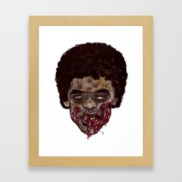 Heads of the Living Dead Zombies: Ahhh Fro Zombie Framed Art Print
