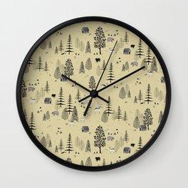 Forrest Pattern Wall Clock
