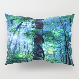 Forest of the Fairies Blue Night Pillow Sham