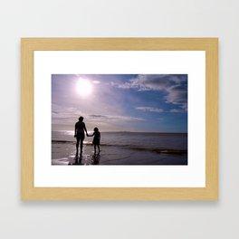 Beach Love Framed Art Print