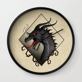 Dragon Hellfire Wall Clock