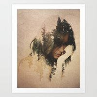 lost Art Prints featuring Lost In Thought by Davies Babies