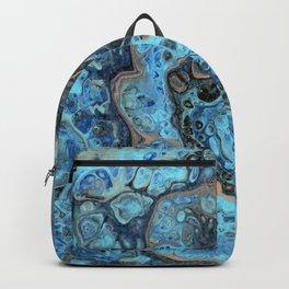 Lapis Lazuli 1 - Acrylic Flow Abstract Backpack