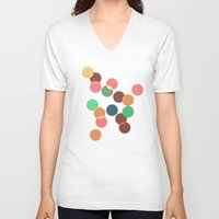 bokeh V-neck T-shirts featuring Round bokeh by Crazy Thoom