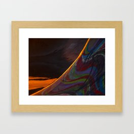 Skate ramp after a storm Framed Art Print