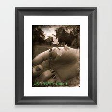 Touching Beauty Framed Art Print