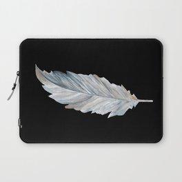 Bird Feather on Black Laptop Sleeve