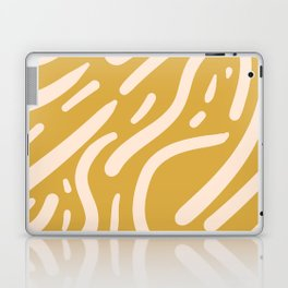 Earthy Mustard Yellow and Light Peach tribal inspired modern pattern Laptop & iPad Skin