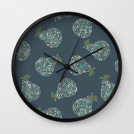 Sparkle Pears (Dark Navy) Wall Clock