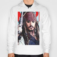 jack sparrow Hoodies featuring Jack Sparrow by Brian Raggatt