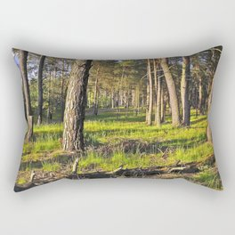 Dreaming Pine Trees in the Evening Light Rectangular Pillow