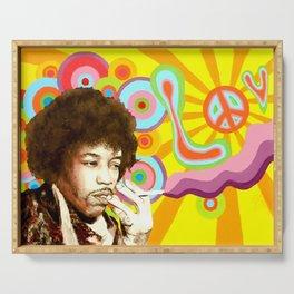 Jimi Hendrix (Peace & Love) Serving Tray