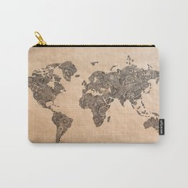 Henna Ink World Map Carry-All Pouch