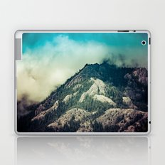 Mountains and Forest - Cloudy Mountain Ridge Laptop & iPad Skin