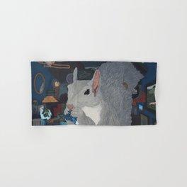 Grey Hoarding Squirrel (in a Blue Room) Hand & Bath Towel