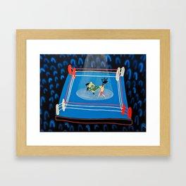 The Mystery of Chessboxing Framed Art Print