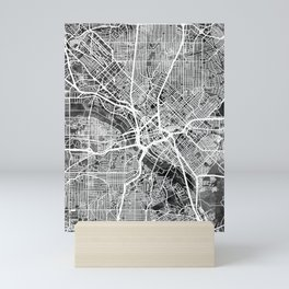 Dallas Texas City Map Mini Art Print