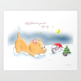 May Christmas live in your heart all year long Art Print