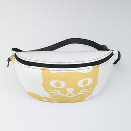Yellow cat drawing, yellow cat pattern, yellow cat design Fanny Pack