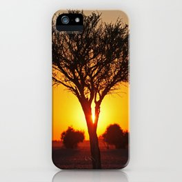 Day starts in Africa iPhone Case