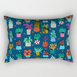 Check It - house plants indoor monstera neon bright modern pattern retro throwback memphis style Rectangular Pillow