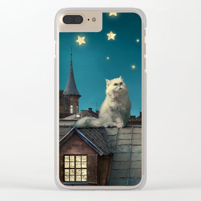 Star Cat Clear iPhone Case