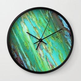 The fast crushing rain Wall Clock