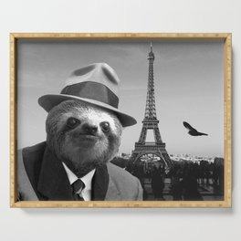 Gentleman Sloth in Paris Serving Tray