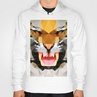geo Hoodies featuring Tiger - Geo by Three of the Possessed
