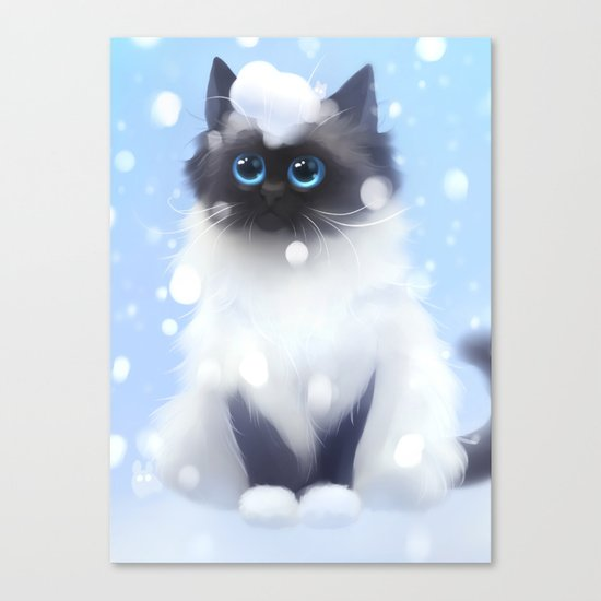 Waiting for the first snow Canvas Print