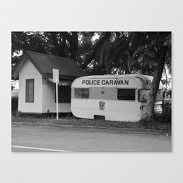 Local police caravan, Nadi, Fiji Canvas Print