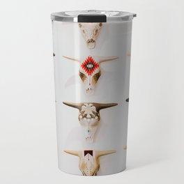 Bull Skulls - Mexican Folk Art Travel Mug